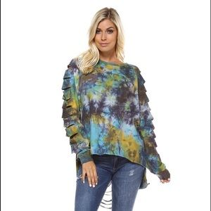 Tie Dyed Distressed Top